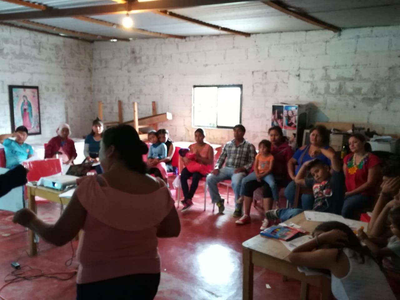 Taller con mujeres en movilidad en las Margaritas, Chiapas